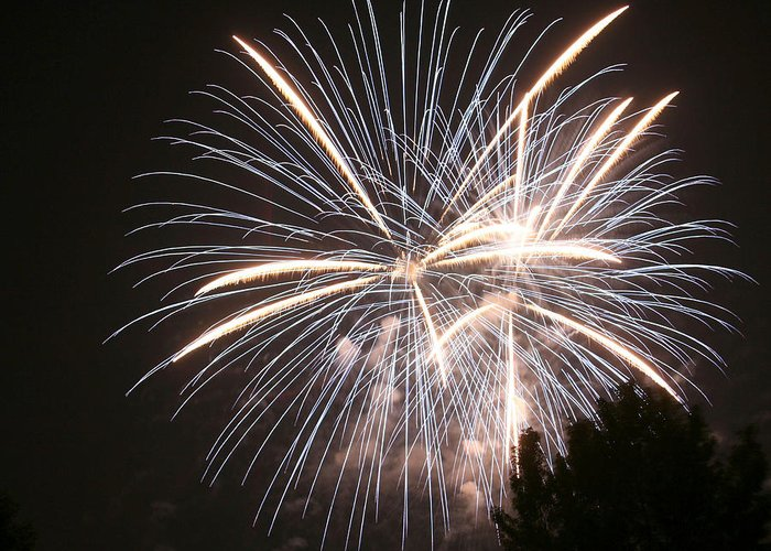 Fireworks Greeting Card featuring the photograph A Big Boom by Monica Lahr