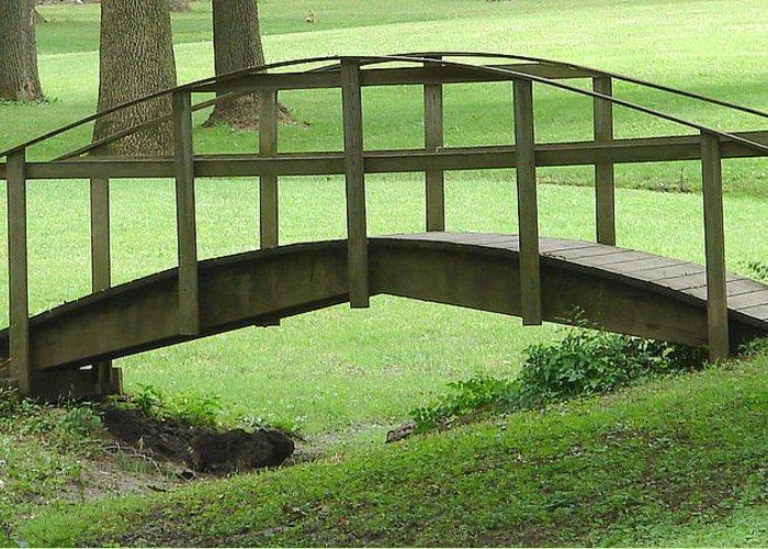 Bridge Green Grass Greeting Card featuring the photograph A Bridge In Washington County by Luciana Seymour