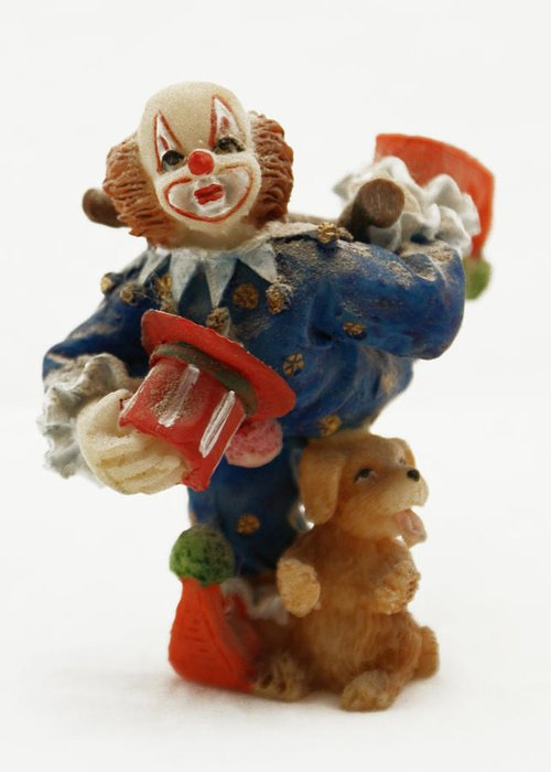 Clown Greeting Card featuring the photograph A Candy Colored Clown by Ron Read