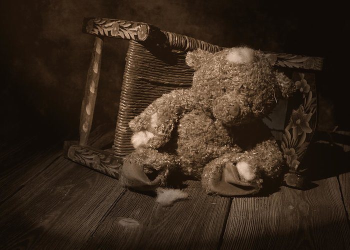 Teddy Bear Greeting Card featuring the photograph A Child Once Loved Me by Tom Mc Nemar
