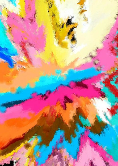 Abstract Greeting Card featuring the digital art A Childs Dream by Florene Welebny