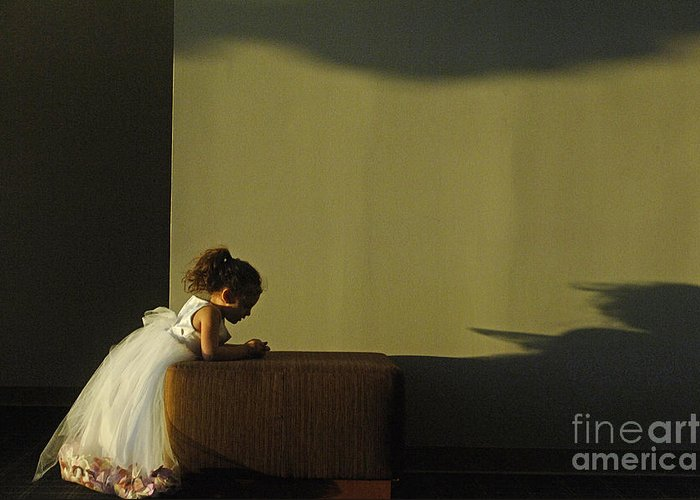 Child Greeting Card featuring the photograph A Child's Prayer by Gib Martinez