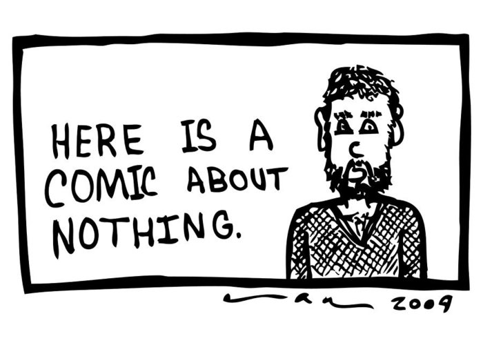 Drawing Greeting Card featuring the drawing A Comic About Nothing by Karl Addison