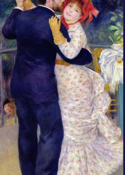 Dance Greeting Card featuring the painting A Dance In The Country by Pierre Auguste Renoir