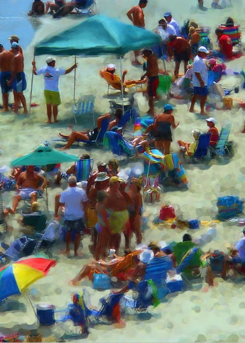Beach Greeting Card featuring the photograph A Day At The Beach by Jeff Breiman
