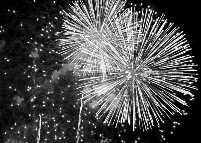 Fireworks Greeting Card featuring the photograph A Day To Celebrate by Julie Lueders