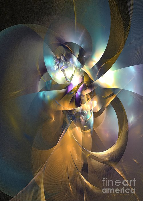 Abstract Greeting Card featuring the digital art A Distant Melody by Sipo Liimatainen