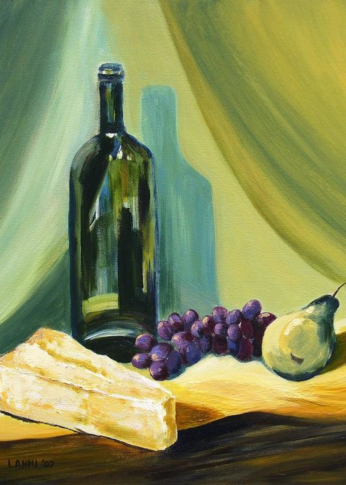 Still Life Greeting Card featuring the painting A Few Of My Favorite Things by Joe Lanni