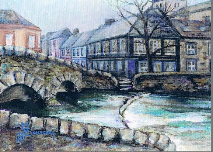 Westport Greeting Card featuring the painting A Fine Day In Eire by M Schaefer
