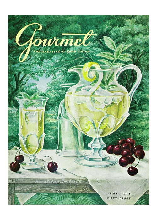 Food Greeting Card featuring the photograph A Gourmet Cover Of Glassware by Hilary Knight
