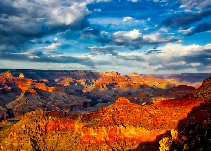 Grand Canyon Greeting Card featuring the photograph A Grand Canyon Sunset by Dom Carver