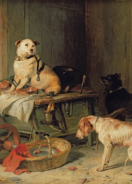 Jack Greeting Card featuring the painting A Jack In Office by Sir Edwin Landseer