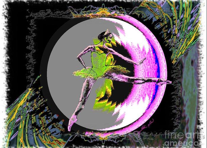 Dance Greeting Card featuring the digital art A La Second by Cynthia Sorensen