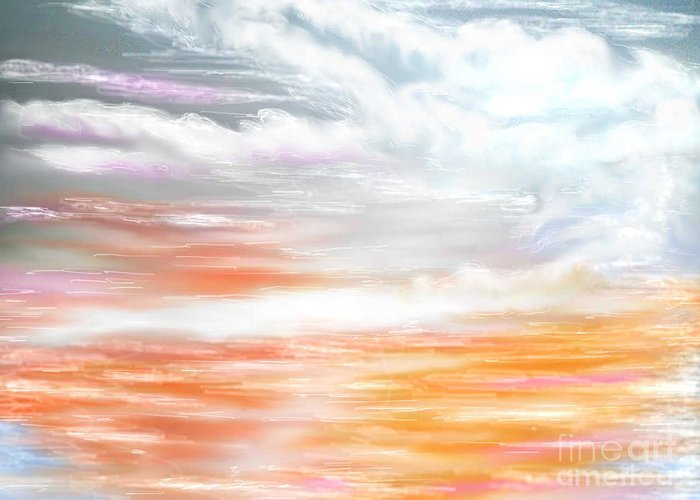 Inspirational Art Greeting Card featuring the digital art A Light Unto My Path by Brenda L Spencer