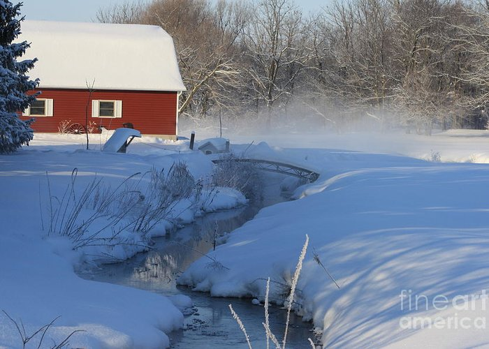 Winter Greeting Card featuring the digital art A Little Slice by Cathy Beharriell