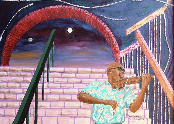 Kevin Callahan Greeting Card featuring the painting A Love Supreme by Kevin Callahan