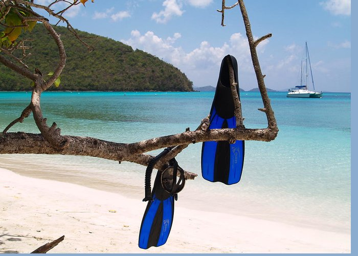 Ocean Views Greeting Card featuring the photograph A Maho Bay Snorkel by Richard Mansfield