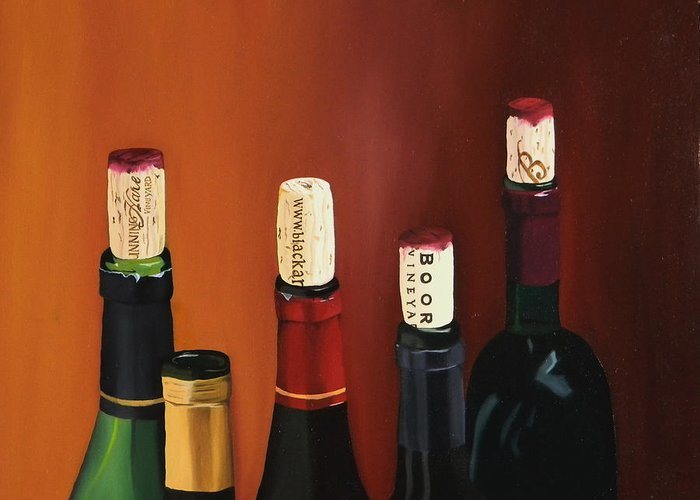 Wine Art Paintings Greeting Card featuring the painting A Maryland Wine Party by Brien Cole