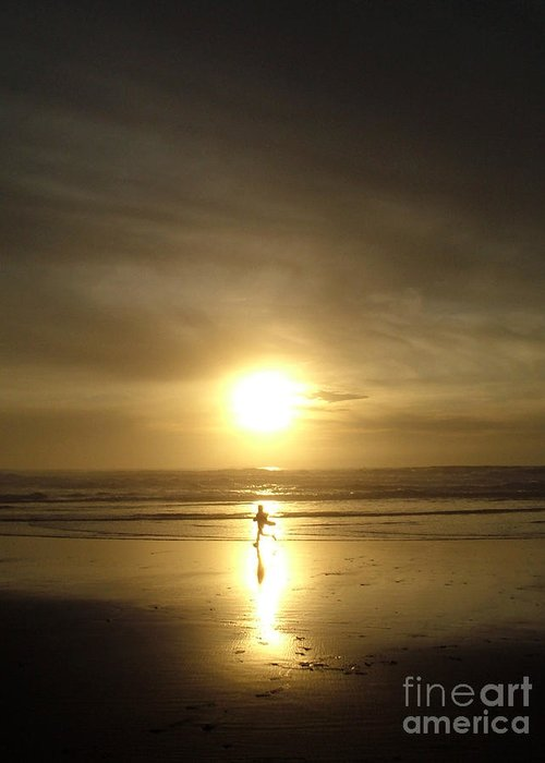Beach Greeting Card featuring the photograph A Moment In The Sun by Nick Gustafson