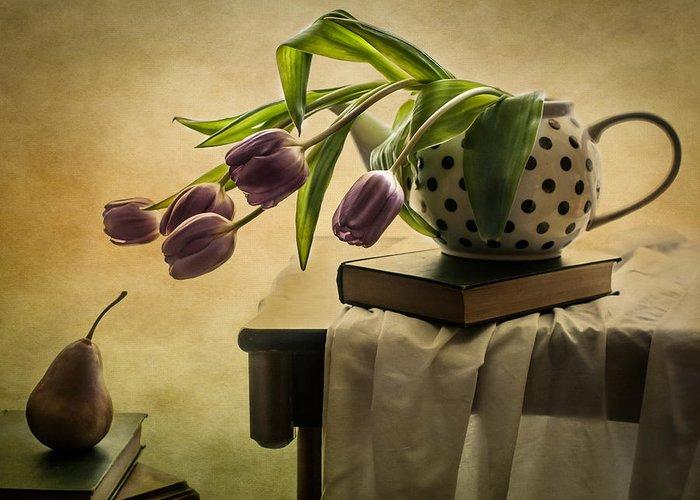 Purple Tulip Greeting Cards