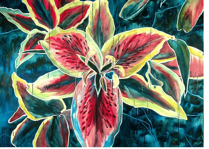 Floral Painting Greeting Card featuring the painting A New Day by Jennifer McDuffie
