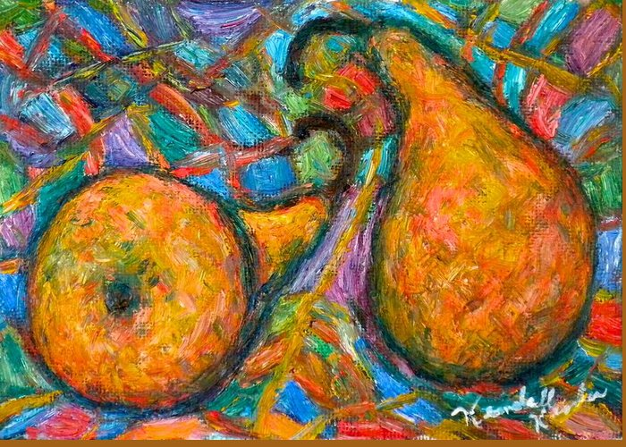 Pears Greeting Card featuring the painting A Pair by Kendall Kessler