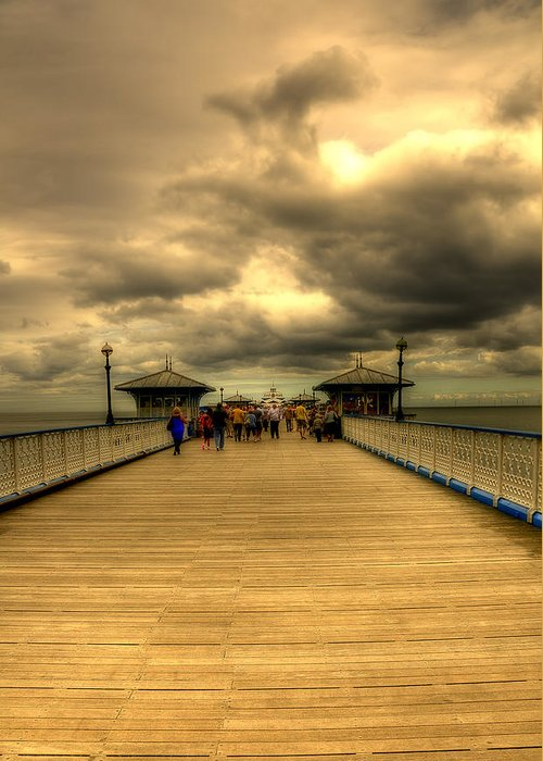 Pier Greeting Card featuring the photograph A Pier by Svetlana Sewell