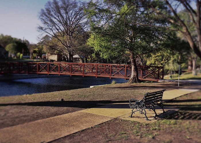 New Braunfels Greeting Card featuring the photograph A Place For Day Dreaming by Judy Vincent