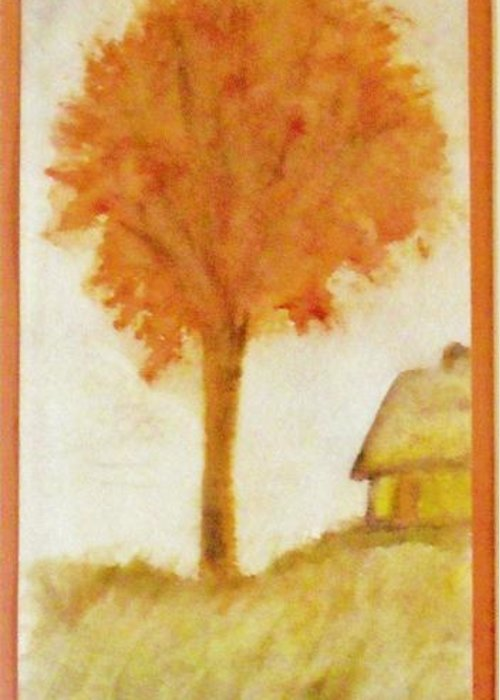 Solitary Greeting Card featuring the painting A Quiet Place by Djl Leclerc