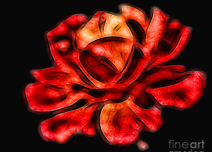 Red Greeting Card featuring the photograph A Red Rose For You 2 by Mariola Bitner
