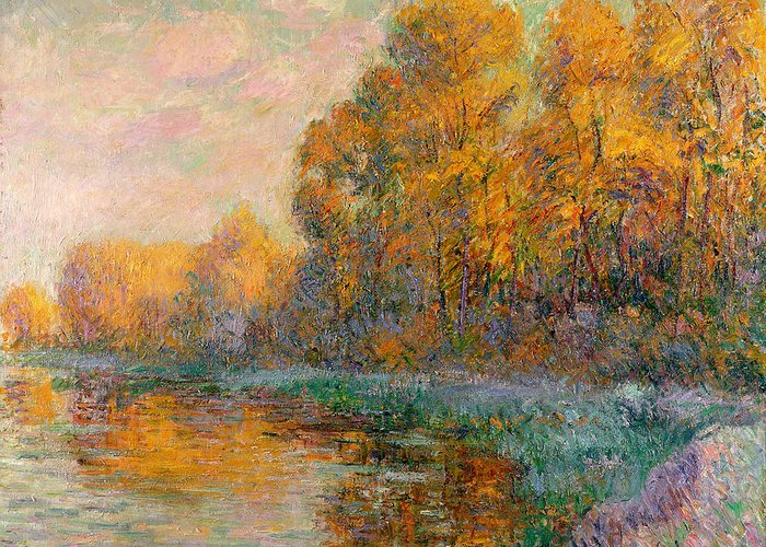 Rivers In The Fall Greeting Cards
