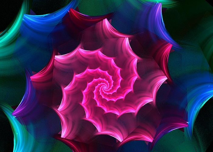 Fantasy Greeting Card featuring the digital art A Rose By Any Other Name by David Lane