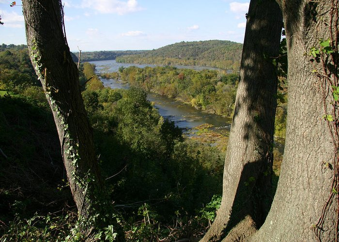 Harpers Ferry Greeting Card featuring the photograph A Scenic View Of The Potomac River by Stephen St. John