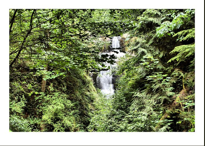 Waterfall Greeting Card featuring the photograph A Secret Place by J D Banks