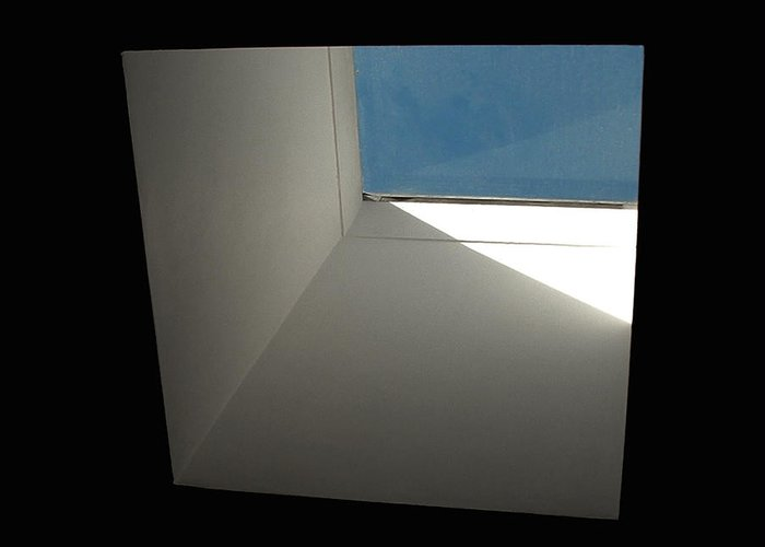 Fenestration Greeting Card featuring the photograph A Skylight Shaft by Stan Magnan