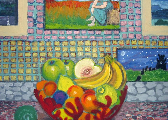 Still Life Greeting Card featuring the painting A Still Life by Susan Stewart