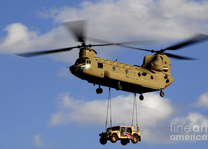 A U s  Army Ch-47 Chinook Helicopter Greeting Card
