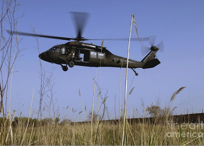 Adults Only Greeting Card featuring the photograph A U.s. Army Uh-60 Black Hawk Helicopter by Stocktrek Images