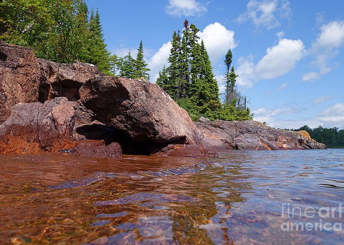 Lake Superior Greeting Card featuring the photograph A View From The Lake by Sandra Updyke