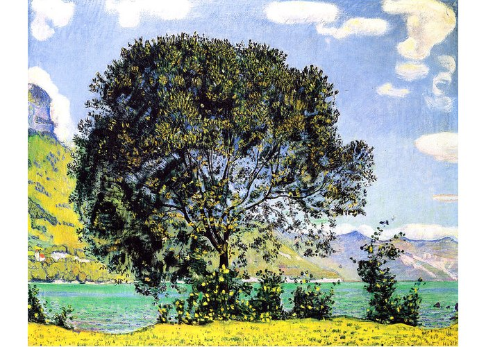 Ferdinand Hodler Greeting Card featuring the painting A View Of Lake Brienz From Bodeli by Ferdinand Hodler