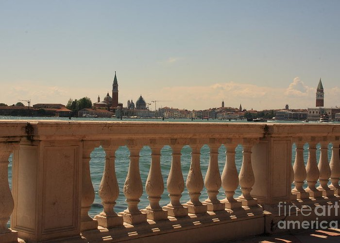 Venice Greeting Card featuring the photograph A View Of Venice by Michael Henderson