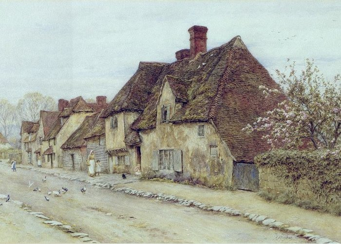 Row Of Houses Greeting Cards