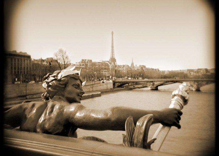 Paris Greeting Card featuring the photograph A Walk Through Paris 7 by Mike McGlothlen