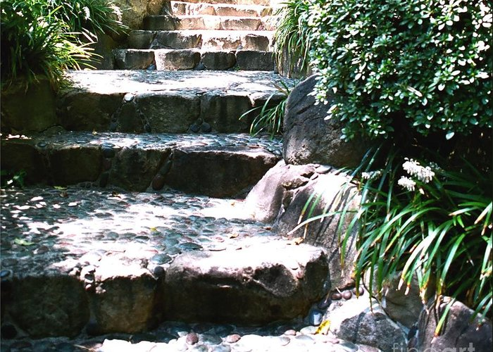 Stairs Greeting Card featuring the photograph A Way Out by Dean Triolo
