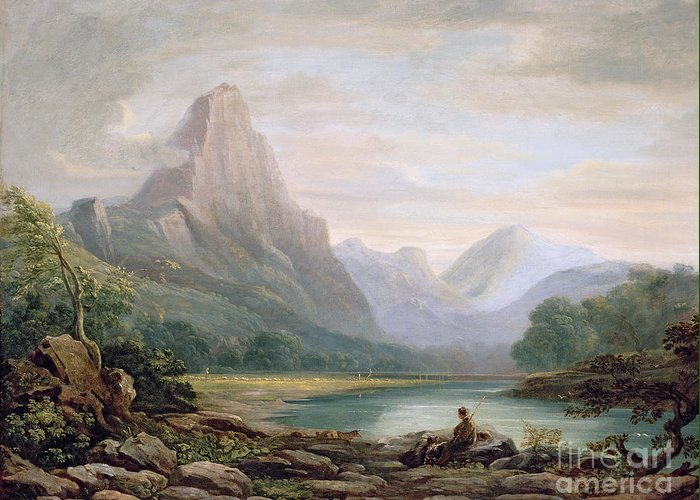 Welsh Greeting Card featuring the painting A Welsh Valley by John Varley