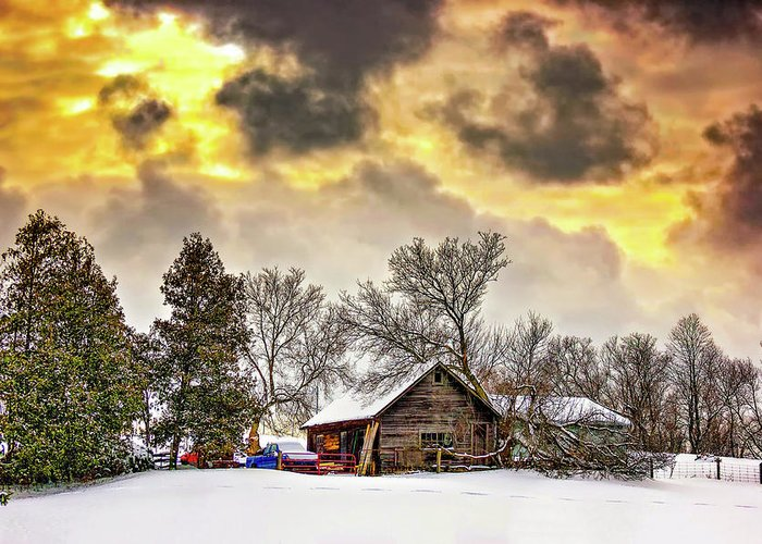 Winter Greeting Card featuring the photograph A Winter Sky by Steve Harrington