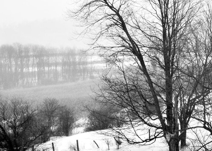 Landscape Greeting Card featuring the photograph A Wintry Day by Gerlinde Keating - Galleria GK Keating Associates Inc