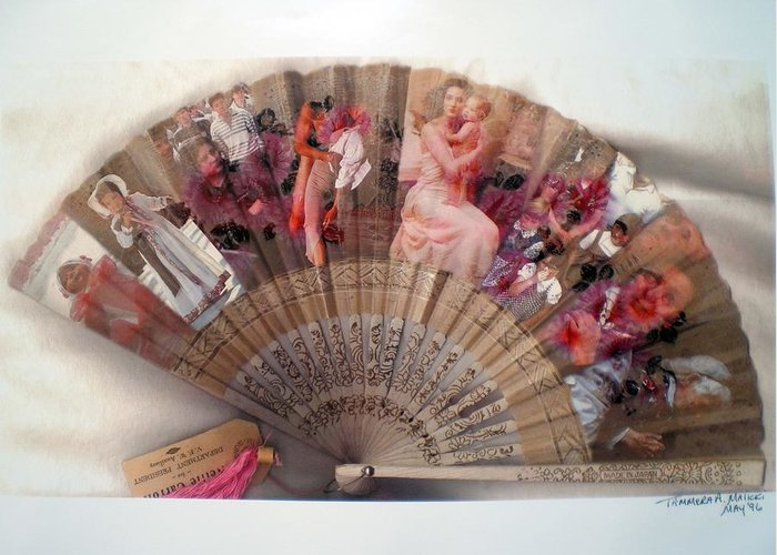 Fan Greeting Card featuring the digital art A Womans World by Tammera Malicki-Wong