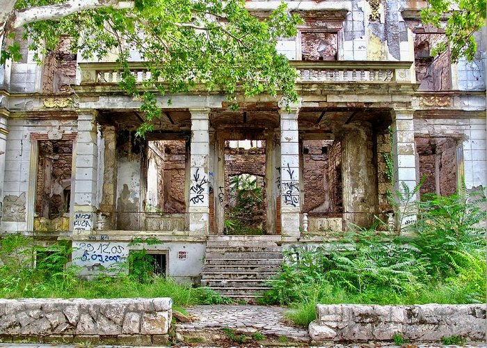 Street Photography Greeting Card featuring the photograph Abandoned In Mostar by Aaris K