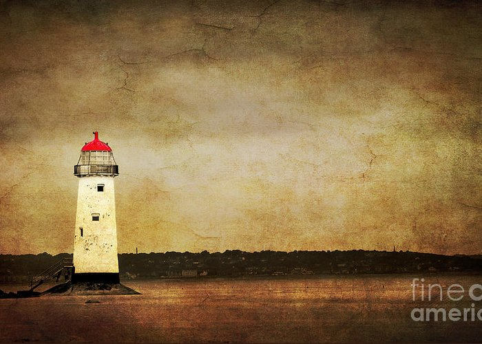 Abstract Greeting Card featuring the photograph Abandoned Lighthouse by Meirion Matthias
